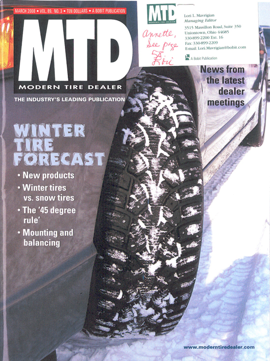 MTD March 2008 Cover