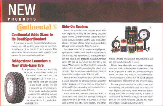 Tire News Feb 2008 - New Products
