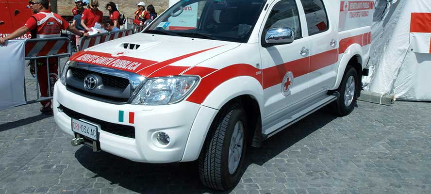 Ride-On protezione dei pneumatici per ambulanze