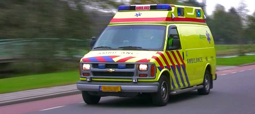 Ride-On bandensealant voor ambulance