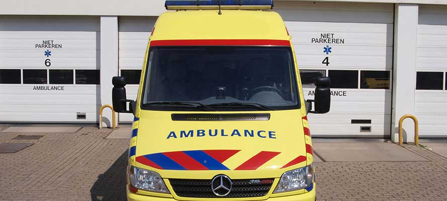 Ride-On bandenbescherming voor ambulance