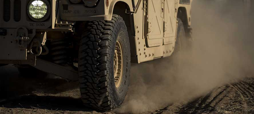 Ride-On flat tire prevention for military vehicles